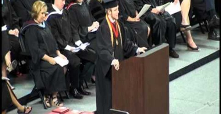 Anti-Christian group outraged that valedictorian dared to recite Lord's Prayer at graduation