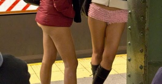 Today is 12th annual 'No Pants Subway Ride Day' by Howard Portnoy