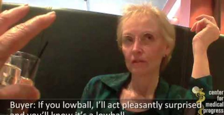 Second Planned Parenthood executive caught on video selling fetal body parts