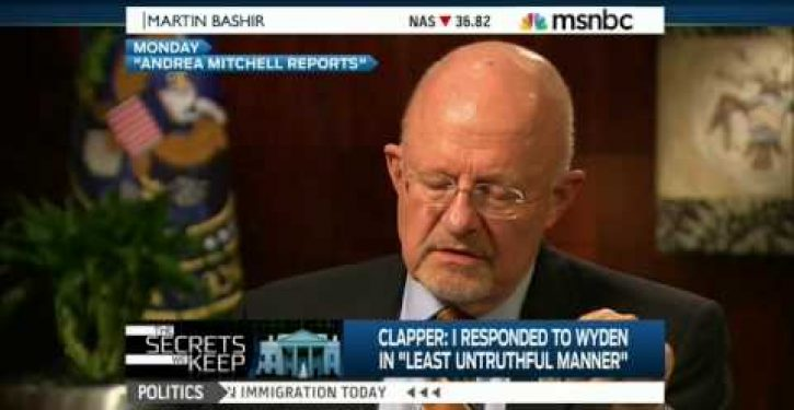 Obama DNI Chief James Clapper's new excuse for why he perjured himself doesn't match his old one