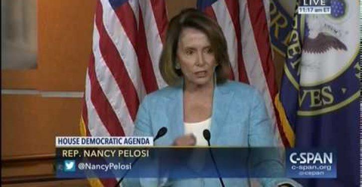 Unity, shmunity: It didn't take long for Nancy Pelosi to revert to type