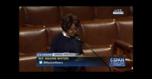 Maxine Waters questions patriotism of Trump supporters on House floor by Joe Newby