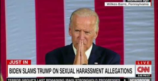 Biden on Trump's accusers: 'I wish we were in high school and I could take him behind the gym!' by Thomas Madison