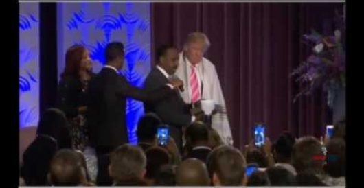 Why was MSM video of Trump's black church event cut, just as pastor was blessing him? by J.E. Dyer