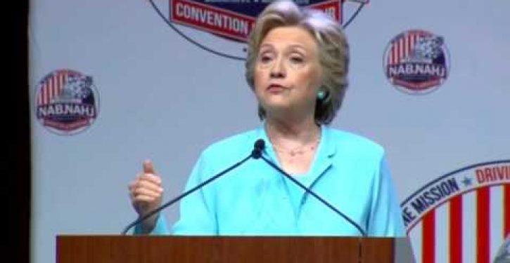 Hillary Clinton accidentally calls Trump her husband