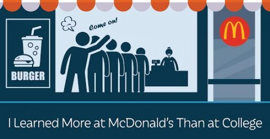 Video: I learned more at McDonald's than at college by LU Staff