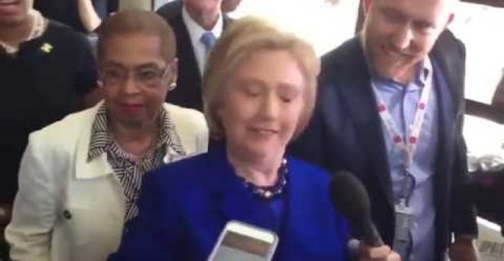 Is Hillary Clinton having a seizure in this video? If not, what in the world is going on?