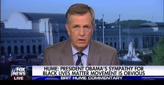 Brit Hume's must-see remarks on Obama's fantasies about Black Lives Matter by Ben Bowles