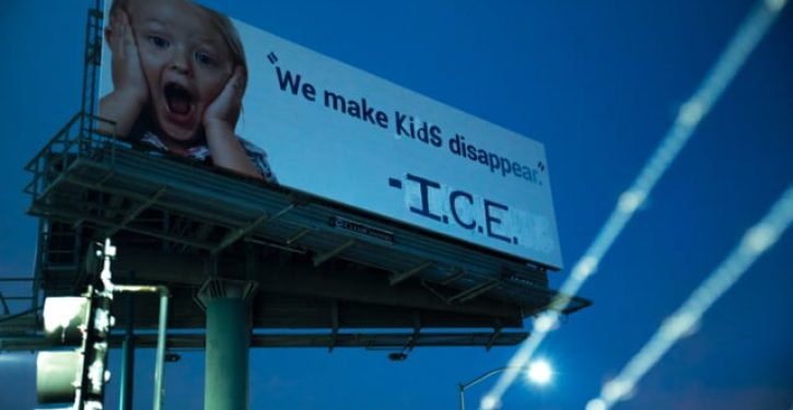 Vandals turn billboard into fake ICE ad with tagline 'We make kids disappear'