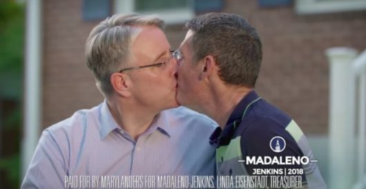 'Take that, Trump!' Gubernatorial candidate kisses his husband in ad 'to piss off Trump' by Howard Portnoy