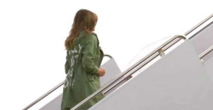 Melania's dream (make that 'nightmare') coat: What in the world was she thinking?