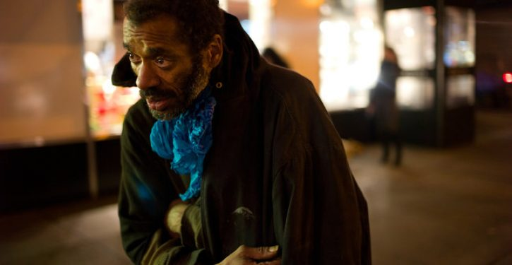 Homeless NYC man shoeless again, now demanding 'piece of the pie'