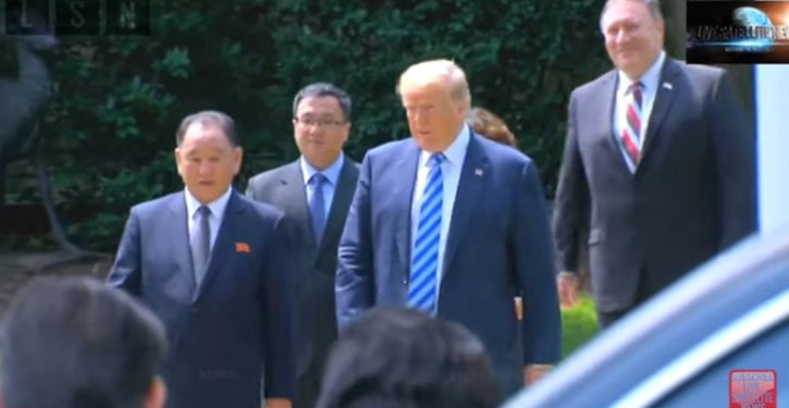 Something was missing from Trump's meeting with Korean leaders. See if you can spot it