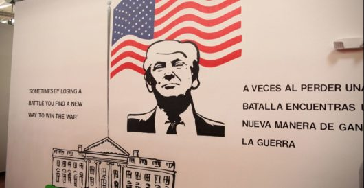 These migrant children walked miles to be free and all they got was this lousy Trump poster by LU Staff