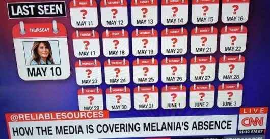 There goes CNN's 'calendar': First lady shows up at WH event, foils theory that she was missing by Howard Portnoy