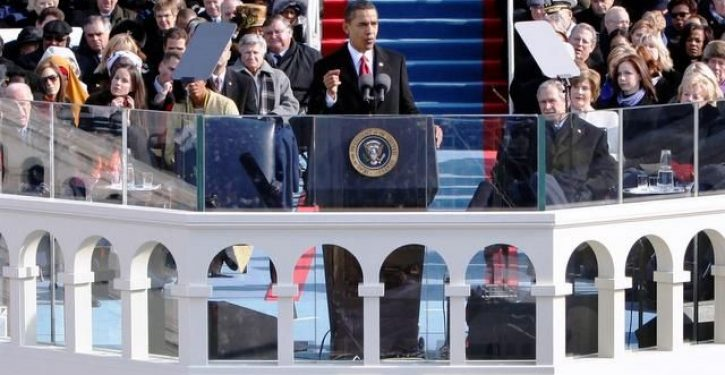 In inaugural speech Obama calls for end to political name-calling (no joke)