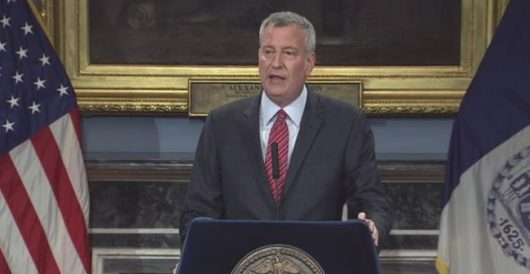 NYC Mayor Bill de Blasio thinks painting a slogan on a street is 'taking action' by Ben Bowles