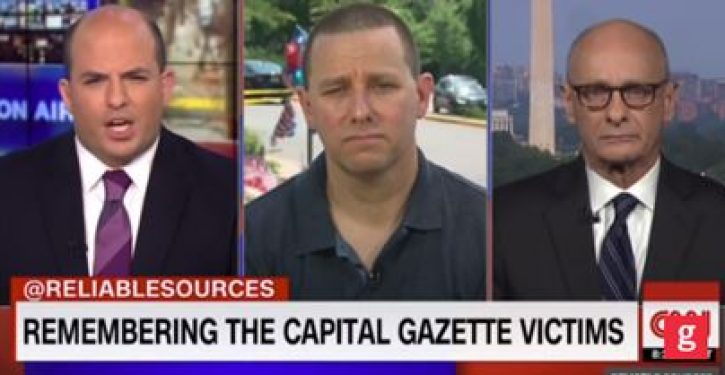 CNN's Brian Stelter tries to get Capitol Gazette employee to blame Trump for shooting