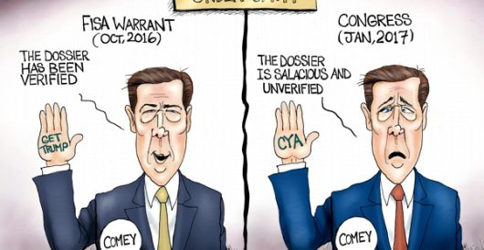 Cartoon of the Day: Liar, leaker, and liberal by A. F. Branco