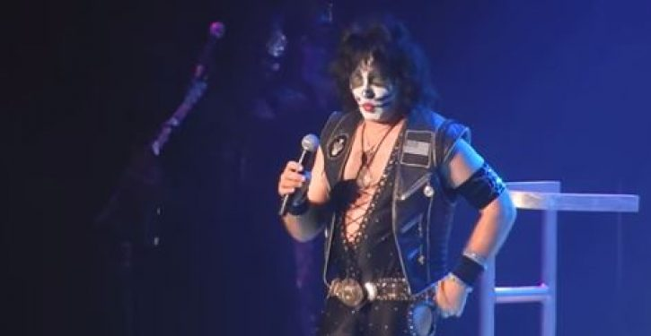 Rock group Kiss stops show, attacks libs, recites Pledge of Allegiance, crowd loves it