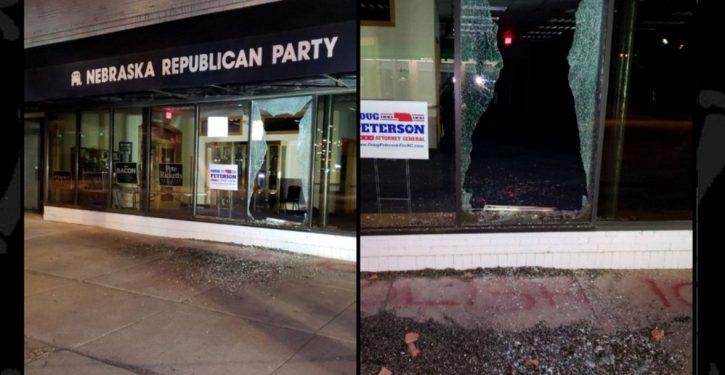 'Abolish ICE' vandals throw brick through window of GOP office in Nebraska