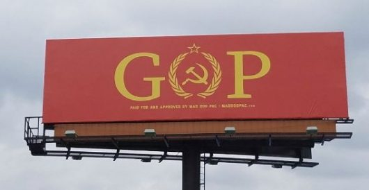 Another political billboard from the Left, this one historically challenged by Ben Bowles