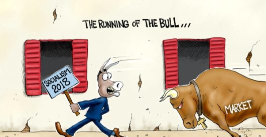 Cartoon of the Day: Bull run by A. F. Branco