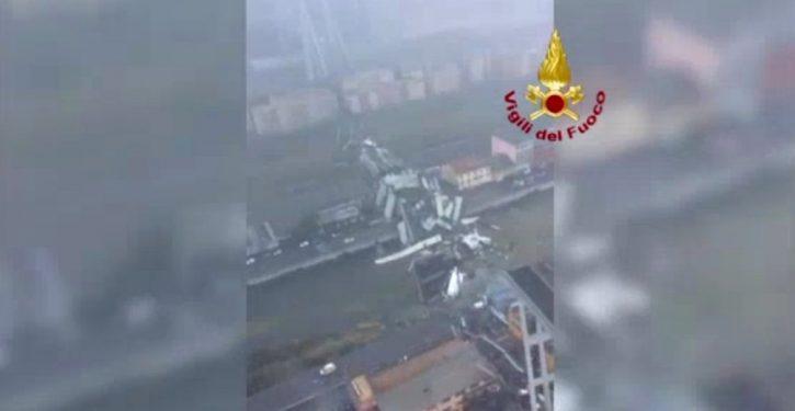 Highway bridge collapses in Italy; 26 dead in massive wreckage