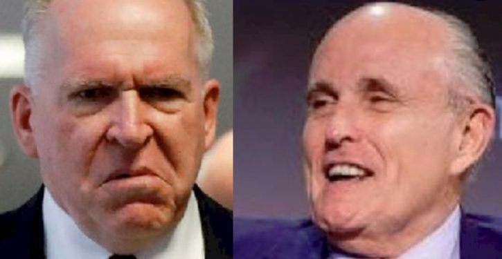 Brennan threatening to sue over loss of clearance: Giuliani's reaction will make him blink
