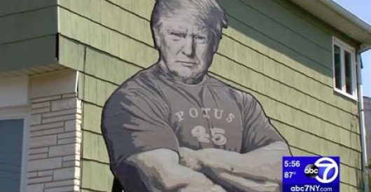 How long before this 20-foot-high tribute to the president sports a Hitler mustache? by Ben Bowles