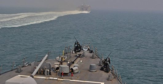 Report: U.S. Aegis destroyer 'escorting vessels through' Strait of Hormuz by J.E. Dyer