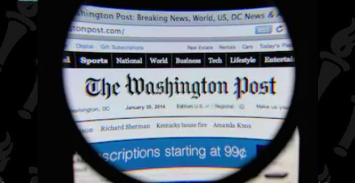 It's come to this: WaPo has bought advertising air time during the Super Bowl