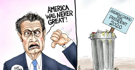 Cartoon of the Day: Trash talk by A. F. Branco
