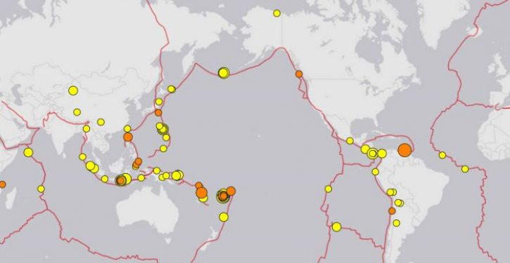 Hmm: Unusual number of 'major' earthquakes in recent weeks