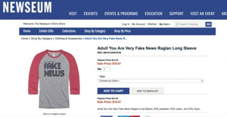 D.C.'s Newseum selling 'fake news' and 'Make America Great Again' merchandise