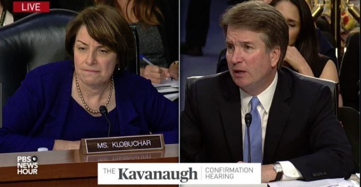 Klobuchar: If I acted like Kavanaugh in his courtroom 'he would have thrown me out'