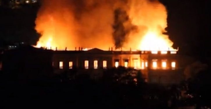 Inferno destroying Brazil's National Museum in Rio; millions of priceless artifacts at risk