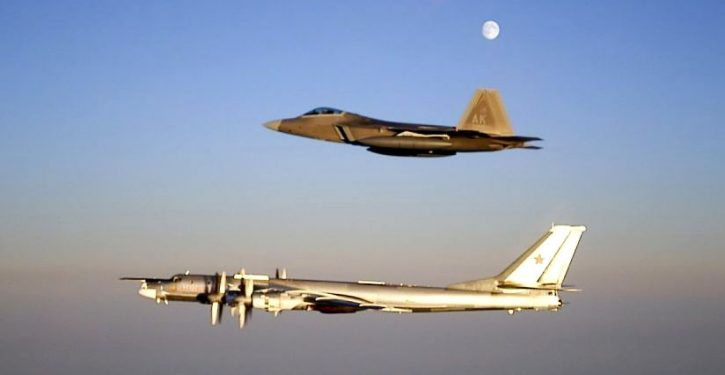 Air Force F-22s intercept Russian bombers off Alaska