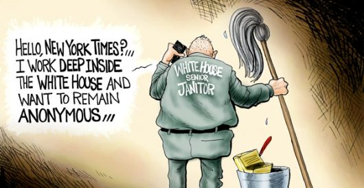 Cartoon bonus: Code name 'Deep Bucket' by A. F. Branco