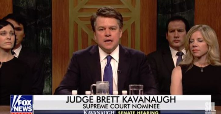 Laughing matter? In SNL season opener, Matt Damon plays raging beer bro Brett Kavanaugh