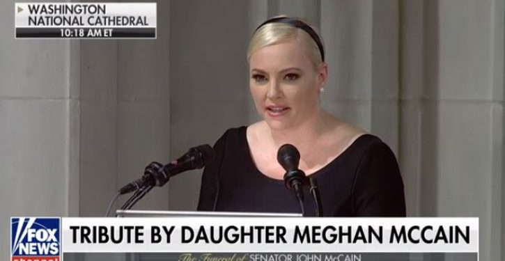 John McCain's daughter uses occasion of funeral to slam Trump: 'America was always great'