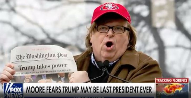 In his new film, Michael Moore warns that Donald Trump may be 'America's last president'