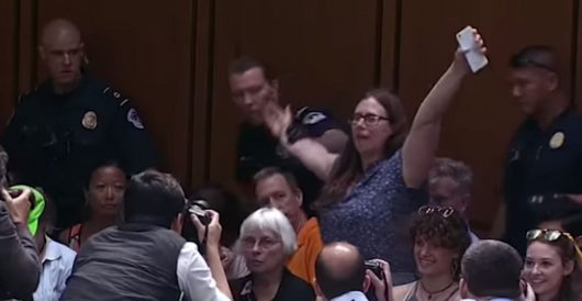 Doctors from TX attending Kavanaugh hearing saw 'protesters' being paid cash for planned disruption by LU Staff