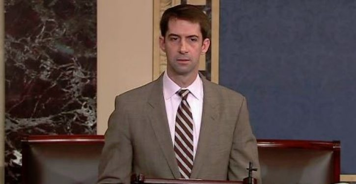 Tom Cotton believes he knows who was behind the leak of Blasey Ford's letter