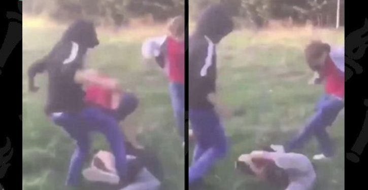 Shocking moment when bullies beat up young boy, order him to 'get on your knees and pray to Allah'