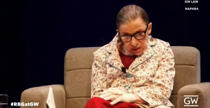 Ruth Bader Ginsburg hospitalized with fever, chills