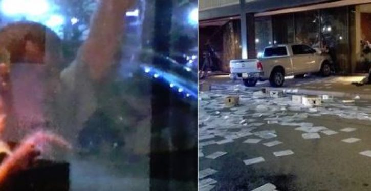Man ranting about 'high treason' rams truck into Dallas television station