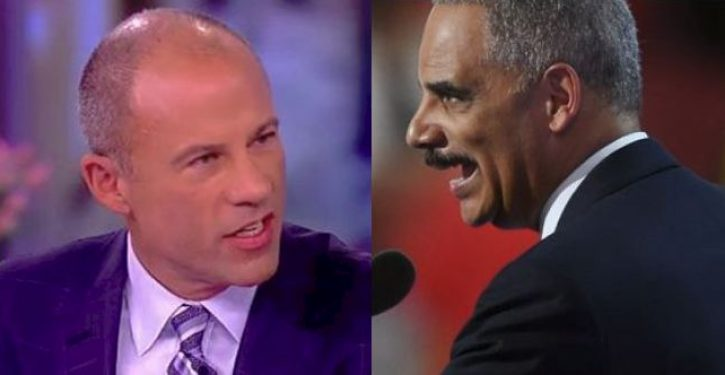 NYT excuses Holder and Avenatti's rhetoric as 'righteous anger,' 'showing strength'
