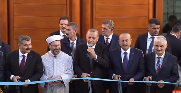 Turkey's Erdogan presides at opening of Germany's largest mosque