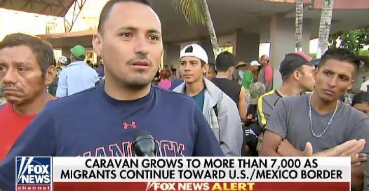 Illegal from Honduras in caravan: Yes, there are criminals traveling with it